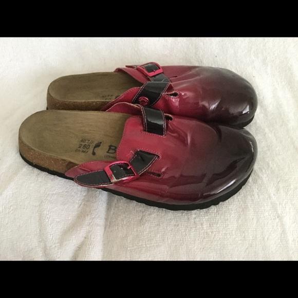 23bb1cc12417 Birkenstock Shoes - Betula by Birkenstock pink  black mule clog sz 40